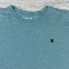 New listing Men's Hurley Blue Aqua Short Sleeve Logo Shirt Surf Beach Surfing Extra Large XL