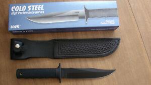 COLD STEEL UWK #38UWC FIXED BLADE CARBON V KNIFE, ORIGINAL BOX, SHEATH,USA MADE