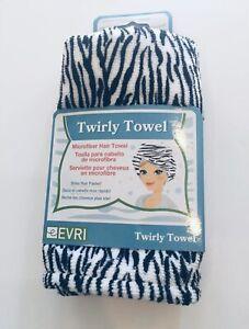 Womens Head Towel Evri Zebra Print Twirly Towel Brand New in Package! (Zebra)