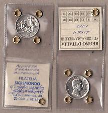 VITTORIO EMANUELE III° RE d'Italia 1 LIRA 1917 Lire 1 Argento Quadriga Briosa