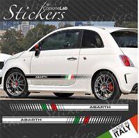 Strisce adesive fiancate laterali Fiat 500 ABARTH fasce 500 tricolore Italia