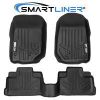 07-13 Wrangler Unlimited 4Door SMARTLINER Custom Fit Floor Mats Liner Set Black