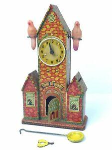 "Rare & Vintage Marusan SAN - ""Time is Money"" Mechanical Bank - Tin & Celluloid -"