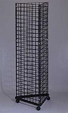 Triangle Grid Tower in Black 24 x 24 x 24 Inches With Casters