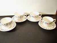 NIKKO AVONDALE PROVINCIAL DESIGNS 4 CUPS AND SAUCER SETS
