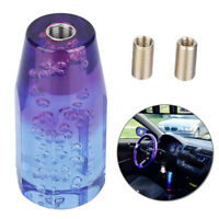 Universal Car Shift Knob Stick Crystal Blue + Purple Bubble Throw Gear Shifter