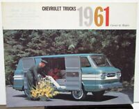 1961 Chevrolet Truck Corvair 95 Van Pickup Loadside Rampside Sales Brochure Orig