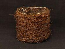 Natural Fiber Metal Frame Planter Basket With Protective Plastic Liner