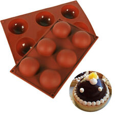 ONE 6 Hole Semi-Sphere Round Silicone Mold Hot Chocolate Bombs Cake Baking Mould