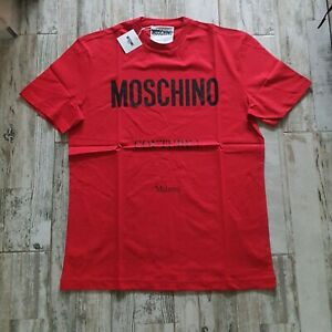 original  men's t-shirt Moschino Milano Couture size L red