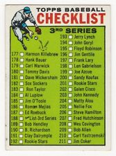 3rd SERIES CHECKLIST 1964 Topps Baseball # 188 Unmarked Ex Plus