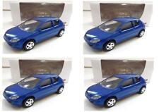 """Lot 4 Peugeot 206 Bleu 1/64 """"3 Inche"""" Diecast NOREV Produit NEUF !!"""