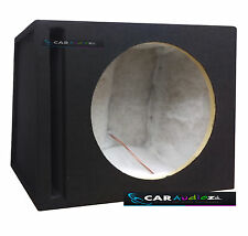 "15"" Inch 38cm Slot Ported Black Carpeted Car Sub woofer MDF Box Bass Enclosure"