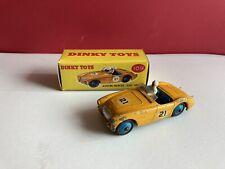 Dinky Toys #109 dark yellow Austin-Healey 100 Sports No 21 & Box