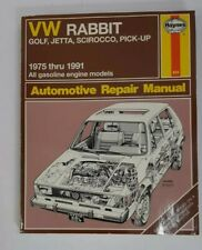 1975 - 1991 Volkswagon Rabbit Golf Jetta Pickup Repair Service Manual Haynes
