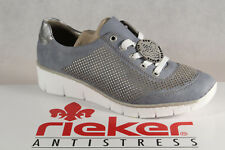 Rieker Ladies Lace Up Trainers Sports Shoes Low Shoes Blue New