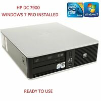 HP DC7900 Fast Cheap Core 2 Duo 3.0GHz 4GB 250GB Home Office PC WiFi Windows 7