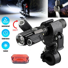 LED Bicycle Headlight Mountain Bike Front Lamp Rear light USB Rechargeable 4Mode