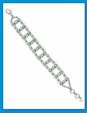 Lucky Brand Silver with Turquoise Stones Link Bracelet New Tags MSRP $49