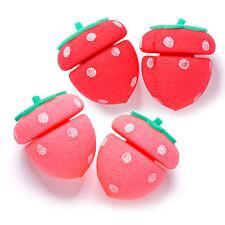 [ETUDE HOUSE] My Beauty Tool Strawberry Sponge Hair Roll 4pcs - BEST
