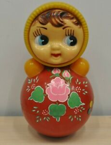 Vintage big soviet toy nevalyashka tumbler. USSR 60s. Rare. Roly Poly