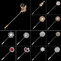 Fashion Crystal Flower Pearl Pin Brooch Lapel Badge Women Men Wedding Jewelry