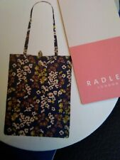 Radley foldaway bag blue patterned water resistant Xmas gift