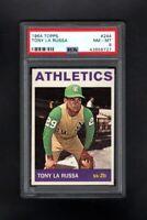 1964 TOPPS #244 TONY LARUSSA OAKLAND ATHLETICS PSA 8 NM/MT CENTERED!