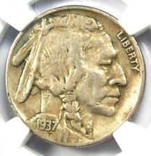 1937-D 3 Legs Buffalo Nickel 5C (Three Legged) - Certified NGC VF30 - Rare Coin!