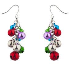 Women Jingle Bells Christmas Chandelier Alloy Earrings Jewelry Xmas Gift 1pair
