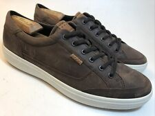 ECCO Casual Sneakers Men's 13 EU 47 Brow Leather Danish Design Soft Comfort