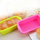 Silicon Bread Loaf Cake Mold Non Stick Bakeware Baking Pan Oven Rectangle Mould#
