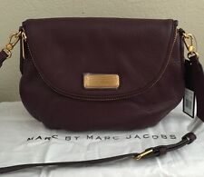 NWT Marc By Marc Jacobs New Q Natasha Large Leather Crossbody Bag Deep Wine $368