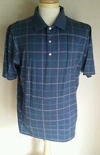 Peter Millar Polo Golf Shirt Mens XL Cotton Blue Checks