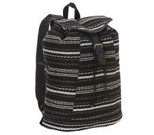 Roxy Camper Backpack Smoke Signals School Book Bag Girls NEW NWT Black
