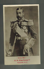 Mint RPPC Postcard King George V KGV Real Picture in Military Uniform Canada BC