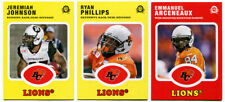 2016 OPC CFL BC Lions 3 Card Lot Emmanuel Arceneaux,Jeremiah Johnson,Philipps