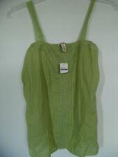 Hollister  junior Green Lace  Trim Camisole Top Shirt Tank  Sz M