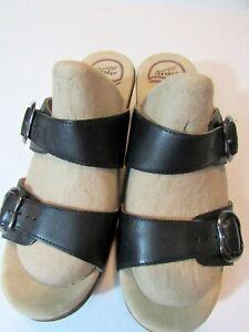 DANSKO Black 2-Strap Clog Comfort Sandals Size 39 EUR (8.5 USA)