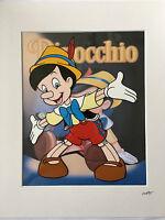 Disney - Pinocchio - Hand Drawn & Hand Painted Cel