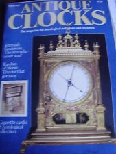ANTIQUE CLOCKS MAG MAR 1989 JOHN RAWLINS OF STONE JEREMIAH SANDERSON