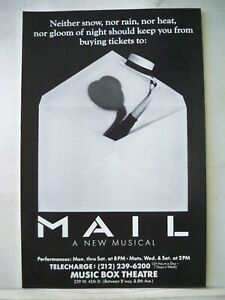 MAIL Herald MICHAEL RUPERT / BRIAN STOKES MITCHELL Flop NYC 1988