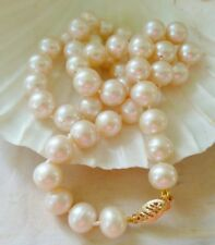 SOLID 9KT GOLD 8-10mm WHITE Freshwater Pearl Necklace 45 cm long* BEAUTIFUL