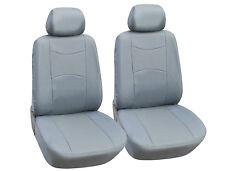 Vinyl Leather Two Front Car Seat Covers For Mercedes-Benz- L1510 Grey