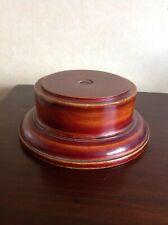 """Large Vintage Wooden Trophy Stand, 8.3"""" (21.5cm) base diameter."""