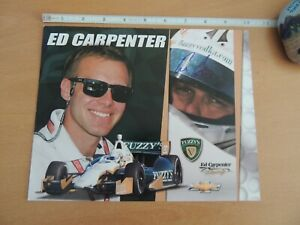 ED CARPENTER HAND SIGNED INDIANAPOLIS 500 INDY CAR 2013 PHOTO CARD HERO CARD