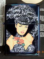ZIPPO LIGHTER ' BETTIE PAGE  ' by OLIVIA  LIMITED EDITION . NEW IN SPECIAL BOX .