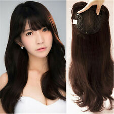 Women  Synthetic Hair  Body Wavy Hair Topper Hairpiece For Women with  Bangs
