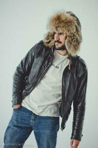 Raccoon Fur Hat Men Ushanka Russian Fur Hat Boy Warm Winter Hat Real Fur Helmet