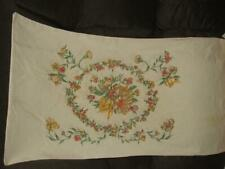 Vintage Floral Flowers Tastemaker no iron muslin   king size  pillowcase